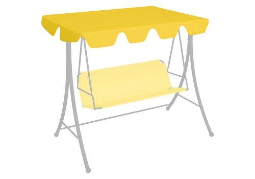 Резервен покрив за градинска люлка, жълт, 150/130x70/105 cм 312104 - Люлки