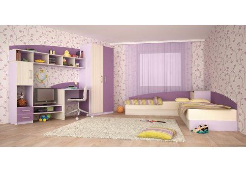 Детски комплект Томас - Лилаво и виолет - Детски спални комплекти