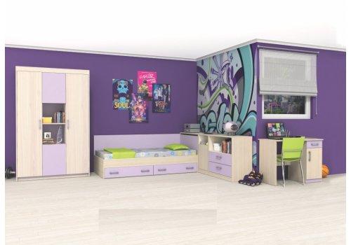 Детски комплект Анди - Рокфорд лайт  и лилаво - Детски спални комплекти