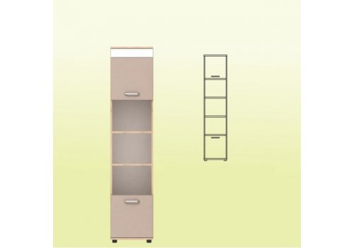 Висок шкаф Крис М16 - Детска модулни системи