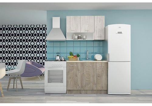 Кухненска конфигурация Хавана 1 - Дъб норте и дъб бланко - Кухненски комплекти