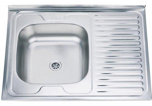 Бордова мивка Алпака - Десен отцедник - Мивки