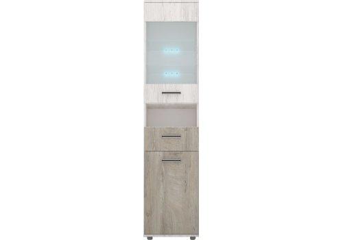 Витринен шкаф Вива М3 с вкл.LED осветление - Витрини