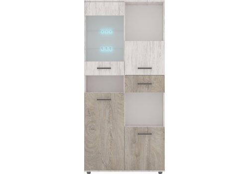 Витринен шкаф Вива М4 с вкл. LED осветление - Витрини