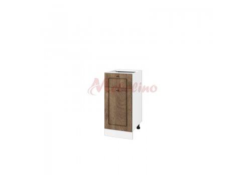 Долен модул БФ  06 - 24 шкаф с чекмедже, врата и рафт - Дъб натурал - Дясно отваряне - Разпродажба