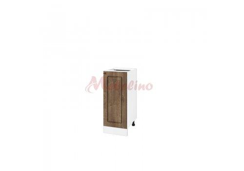 Долен модул БФ  06 - 40 шкаф с врата и рафт - Дъб натурал - Разпродажба