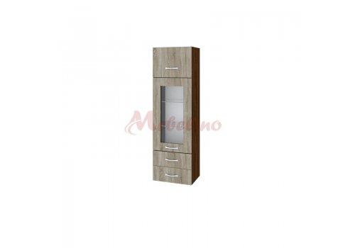 Mодул с повдигаща врата,витрина и две чекмеджета ВС - 101 - Сравняване на продукти