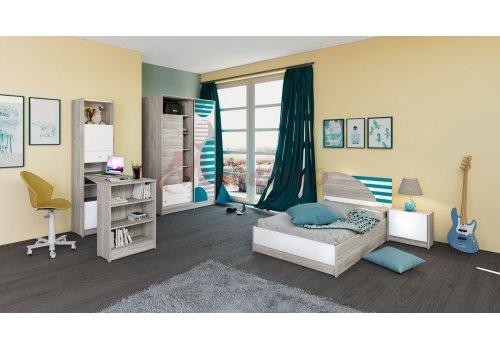 Детско обзавеждане Сити 5008 с вкл. повдигащ механизъм - Детски спални комплекти