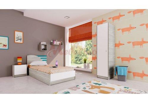 Детско обзавеждане Сити 5009 с вкл. повдигащ механизъм - Детски спални комплекти