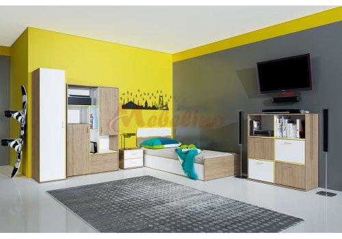Детско обзавеждане Сити 5003 с повдигащ механизъм - Детски спални комплекти