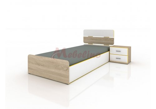 Легло Сити 2014 с вкл. повдигащ механизъм и нощно шкафче за матрак 90x200см. - Детски легла