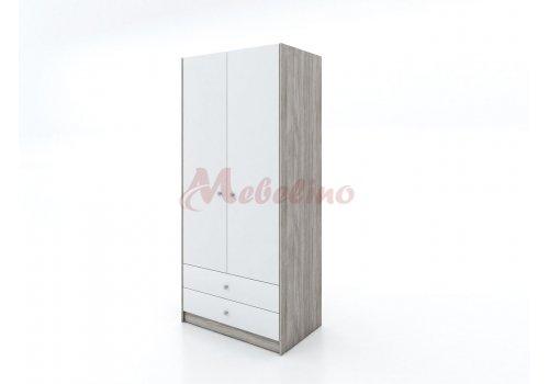 Двукрилен гардероб Сити 1024 с чекмеджета - РАЗПРОДАЖБА - Промо предложения