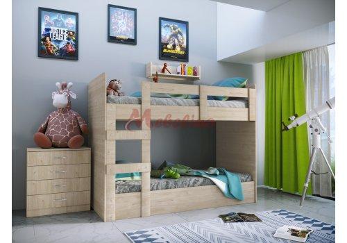 Двуетажни легла Сити 5015 с вкл.скрин  - Детски легла