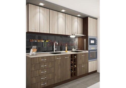 Модулна кухня Сити 864 с цял термоплот - Кухненски комплекти