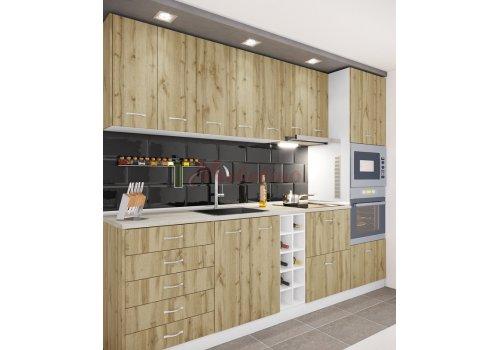 Модулна кухня Сити 865 с цял термоплот - Кухненски комплекти