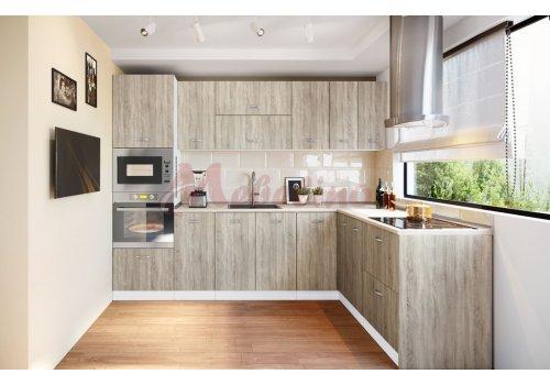 Модулна кухня Сити 866 с цели термоплотове - Кухненски комплекти