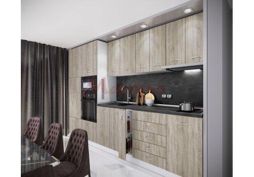 Модулна кухня Сити 867 с цели термоплотове - Кухненски комплекти