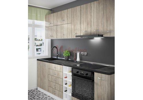 Модулна кухня Сити 869 с цял термоплот - Кухненски комплекти