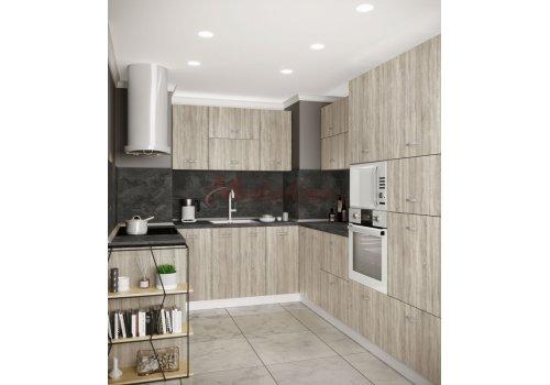 Модулна кухня Сити 873 с цели термоплотове - Кухненски комплекти