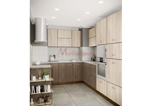 Модулна кухня Сити 874 с цели термоплотове - Кухненски комплекти