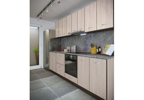 Модулна кухня Сити 876 с цял термоплот - Кухненски комплекти