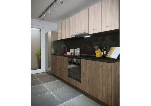 Модулна кухня Сити 877 с цял термоплот - Кухненски комплекти