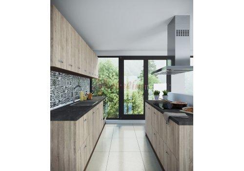 Модулна кухня Сити 878 с цял термоплот - Кухненски комплекти