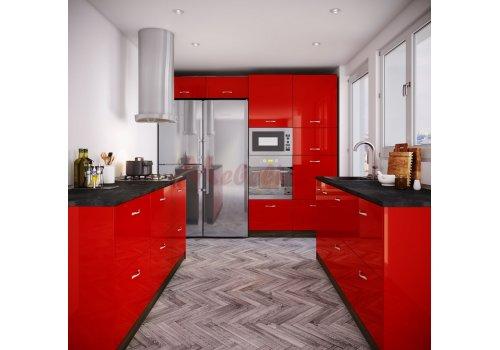 Модулна кухня Сити 884 с цял термоплот - Кухненски комплекти