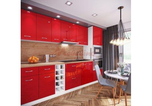 Модулна кухня Сити 886 с цял термоплот - Кухненски комплекти