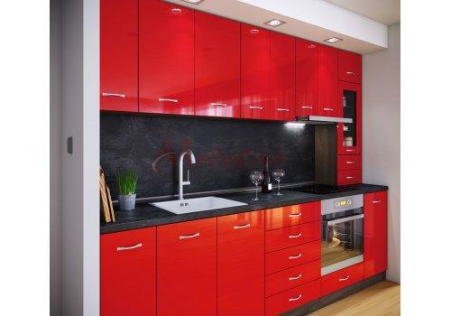 Модулна кухня Сити 888 с цял термоплот - Кухненски комплекти