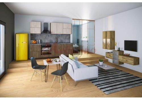 Модулна кухня Сити 912 с цял термоплот - Кухненски комплекти