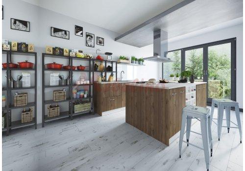 Модулна кухня Сити 914 с цели термоплотове - Кухненски комплекти