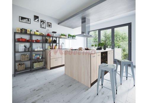 Модулна кухня Сити 915 с цели термоплотове - Кухненски комплекти