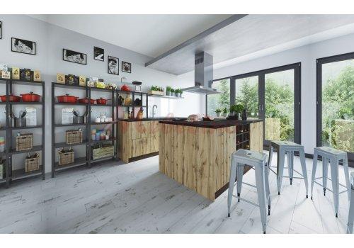 Модулна кухня Сити 916 с цели термоплотове - Кухненски комплекти