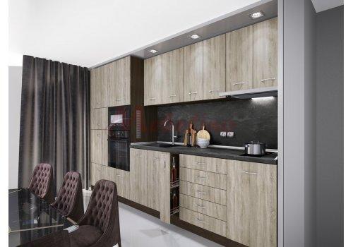 Модулна кухня Сити 925 с цял термоплот - Кухненски комплекти