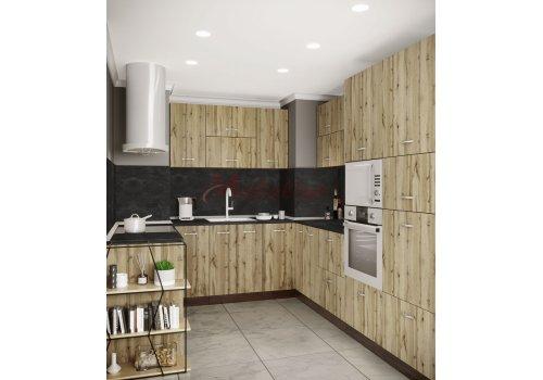 Модулна кухня Сити 927 с цели термоплотове - Кухненски комплекти