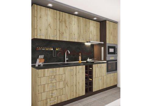 Модулна кухня Сити 929 с цял термоплот - Кухненски комплекти