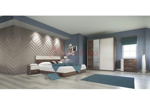 Спален комплект Сити 7011 с ВКЛЮЧЕН МАТРАК, скрин и повдигащ механизъм - Спални комплекти с матраци