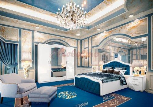 Спален комплект Сити 7034 с ВКЛЮЧЕН МАТРАК и LED осветление  - Спални комплекти с матраци