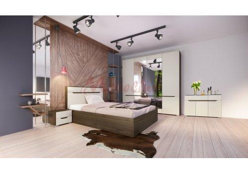 Спален комплект Сити 7035 с ВКЛЮЧЕН МАТРАК, скрин, повдигащ механизъм и LED осветление - Спални комплекти с матраци