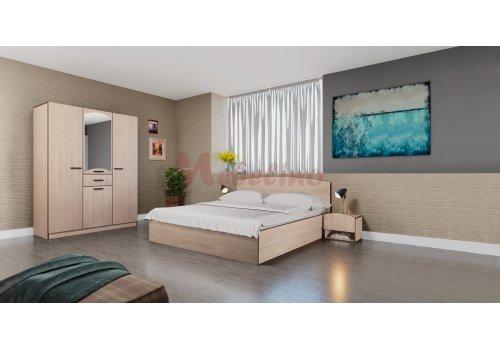 Спален комплект Сити 7039 с ВКЛЮЧЕН МАТРАК, повдигащ механизъм и LED осветление - Спални комплекти с матраци