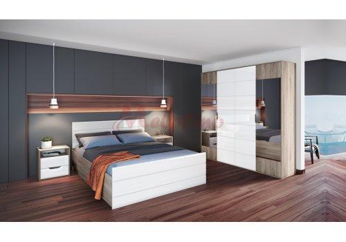 Спален комплект Сити 7043 с ВКЛЮЧЕН МАТРАК и повдигащ механизъм - Спални комплекти с матраци