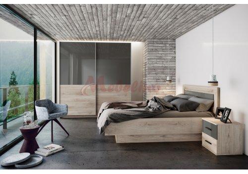 Спален комплект Сити 7045 с ВКЛЮЧЕН МАТРАК и повдигащ механизъм - Спални комплекти с матраци