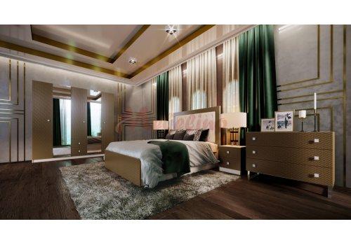 Спален комплект Амулет с ВКЛЮЧЕН МАТРАК, повдигащ механизъм и LED осветление в гардероба - Спални комплекти с матраци