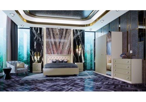 Спален комплект Босфор с ВКЛЮЧЕН МАТРАК, повдигащ механизъм и LED осветление в гардероба - Спални комплекти с матраци