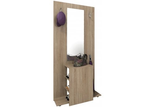 Портманто Мареа №1 с огледало, закачалки и етажерки за обувки - Портманто комплекти