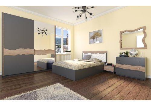 Спален комплект Аладин със скрин, огледало и повдигащ механизъм - Спалня