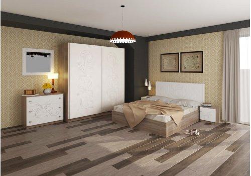 Спален комплект Албена със скрин, огледало и повдигащ механизъм - Спалня
