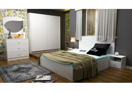 Спален комплект Еко със скрин, огледало и повдигащ механизъм - Спалня