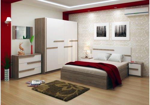 Спален комплект Виктория със скрин, огледало и повдигащ механизъм - Спалня